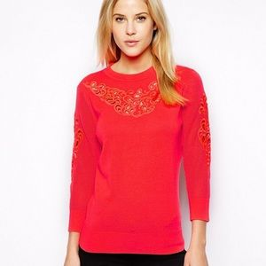 Ted Baker Embroidered Lace Sweater